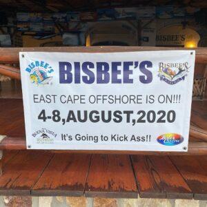 Bisbee's tournament sign